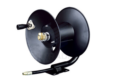Spring Tension Brake Hand Crank Air Hose Reel Ideal / Water Hose Reel Industrial